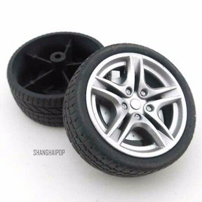 4 X 1:10 Model Car Tyre Tire RC Buggy Wheel Front Rear DIY On Off Road 40/48mm
