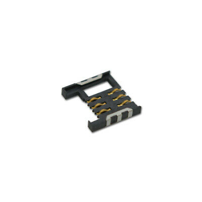 SIM card connector push-push SMD, gold plated
