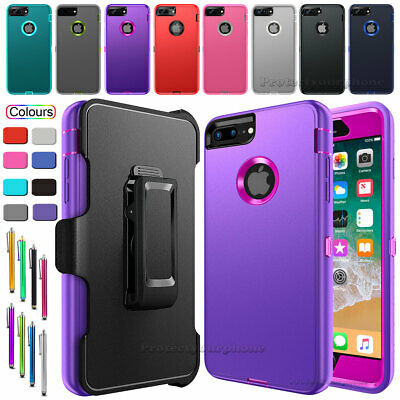 For Apple iPhone 6s 7 8 Plus Defender Case Cover With Screen Protector&Belt Clip