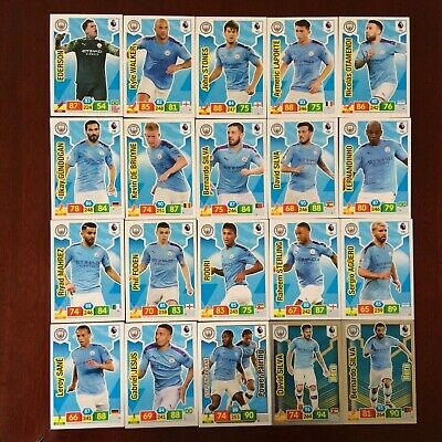Panini Adrenalyn Xl Premier League 2019/20 Man City Base/Hero Buy 3 Get 7 Free