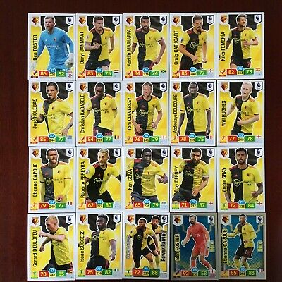 Panini Adrenalyn Xl Premier League 2019/20 Watford Base/Hero Buy 3 Get 7 Free