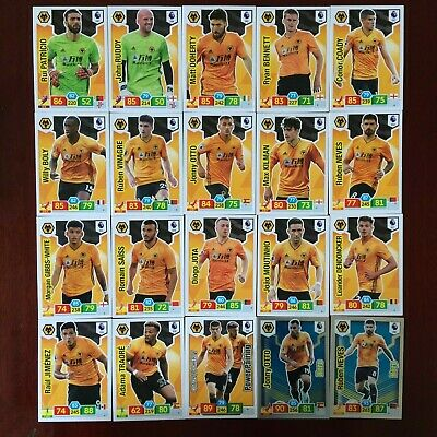 Panini Adrenalyn Xl Premier League 2019/20 Wolves Base/Hero  Buy 3 Get 7 Free