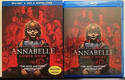 Annabelle Comes Home Blu Ray Dvd 2 Disc Set + Slipcover Sleeve Horror Buy Itnow
