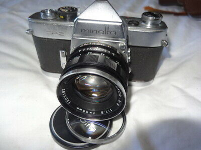 Rare Minolta SR2 35mm camera & Rokkor PF 1:8 / 55 mm lens