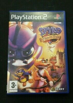 Playstation 2 PS2 Game with manual Spyro the Dragon A Hero's Tail