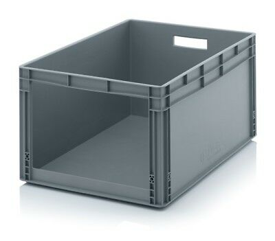 Storage Containers 80x60x42 with Window Stacking Box Eurobox Stackable