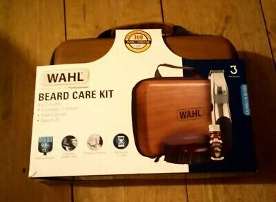 Wahl 9916-802 Beard Care Kit Rechargeable Trimmer Beard Oil Brush RRP £49.99