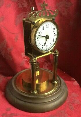 Anniversary Clock With Disc Pendulum Badische? For Spares Or Repair Dome