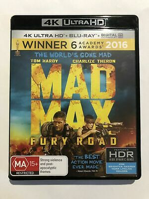 Mad Max Fury Road (4K UHD Disc Only) VGC Rated MA15+ Movie 🍿 Sealed