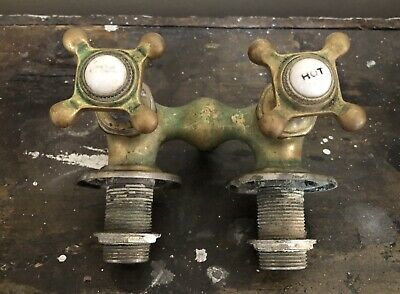 Antique Bronze Hot & Cold Water Faucet For Old Claw Foot Bath Tub
