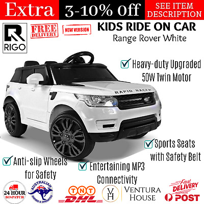Range Rover 4WD Drive Electric Kids Ride On Car Rigo Toy Sport Racer Remote Play