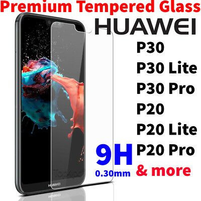 For Huawei Tempered Glass New Screen Protector Mate 20 P20 P30 Pro Lite Y6 2019