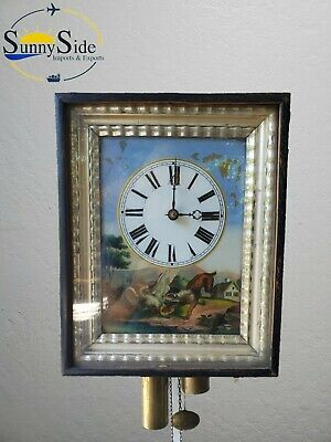 Vintage Wooden Movement Forest Wall Clock