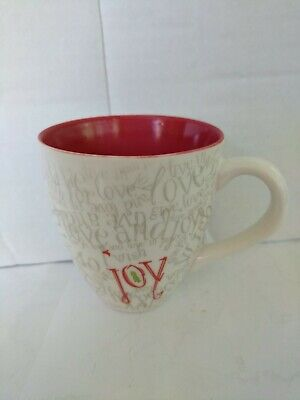 "Starbucks Coffee Cup - 2005 Christmas Joy 4"" x 3 3/4"" excellent 12 oz large mug"