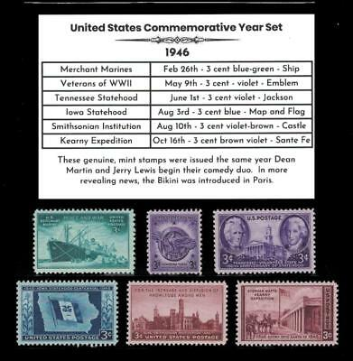 US Stamps 1946 Complete Mint Year Set of Vintage Commemorative Stamps