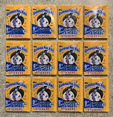 Garbage Pail Kids 9th Series-12 Different Unopened ALL NEW!-CANADA Pack Lot! TWT