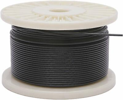 "Vinyl Coated Stainless Steel 304 Cable Wire Rope 7x7, Black, 3/64"" - 1/16"""