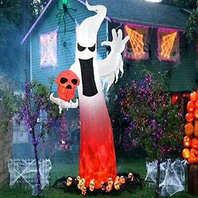 Dreamone 9 Foot Halloween Inflatables Flashing Flame Ghost for Halloween Inflata