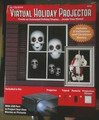 A Mr Christmas Virtual Holiday Projector Halloween Christmas - Lots Of Extras