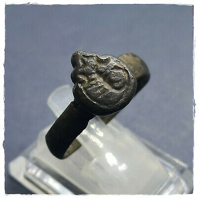** SCORPION ** ancient BRONZE ROMAN RING !!! MILITARY!!! 6,37g