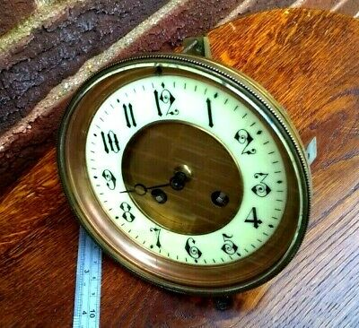 Antique Mantel Clock Movement For Spare Parts Or Repair