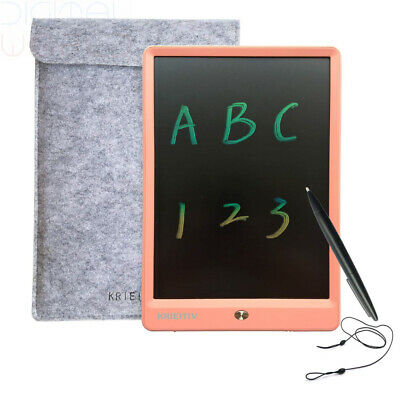 KRIEITIV LCD Writing Tablet 10 inch Colour Screen Pink 10 colorful