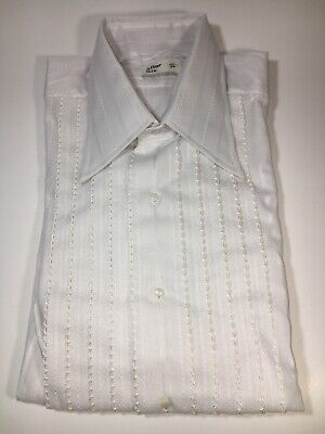 Vintage After Six Mens Tuxedo Shirt Off White Size 15 1/2 / 34 - New Old Stock