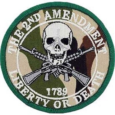 The 2nd Amendment Ain/'t About Deer Huntin/' Embroidered Patch Iron Sew BSPM01032