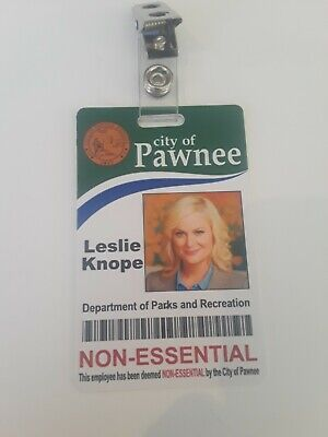 Leslie Knope Parks and Recreation Novelty ID Badge Prop Costume