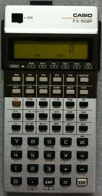 Casio FX-502P Programming Calculator and FA-1 Adaptor + Manuals
