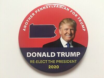 """2020 Re-Elect President Donald Trump 3"""" Button Another Pennsylvanian for Trump"""