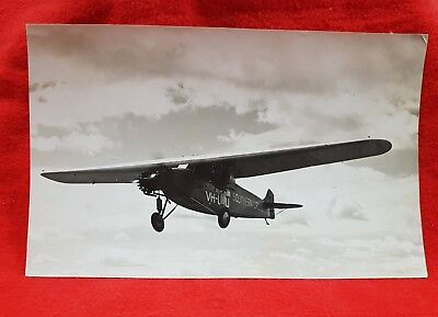 Photograph Aircraft Southern Cross Ready For Australian Movie Smithy 1946