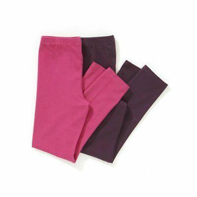 Girls Pack Of 2 Plain Leggings 3-12 Years 324186213