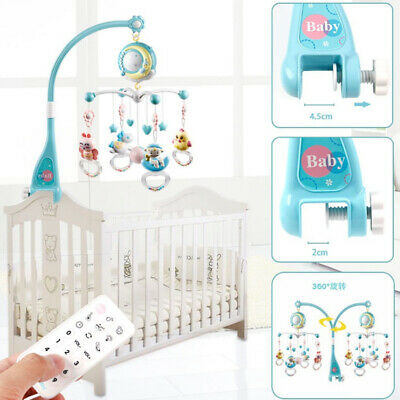 Newborn Music Toy Baby Musical Bed Bell with Controller projection Night Light