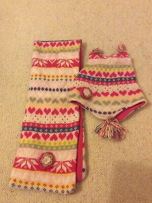 Girls Hat And Scarf Set Age 1-3