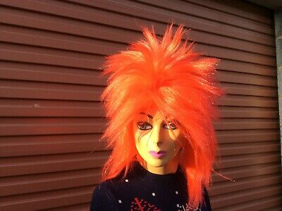Adult Ladies / Gents, 80s Tina Turner Wig Fancy Dress Rock Diva Pop Star Mullet