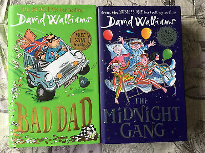 David Walliams Hardback Books X2 Bad Dad & The Midnight Gang