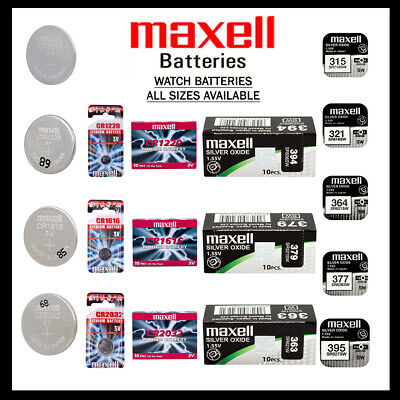 MAXELL BATTERY BATTERIES silver oxide 1.55v lithium 3v all sizes X 1 2 3 4 5 10
