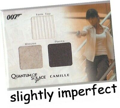James Bond Archives 2009 - QC05 Camille Triple Costume Card 245/475 - IMPERFECT