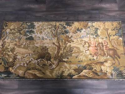 Vintage C1925 French Hunting Tapestry