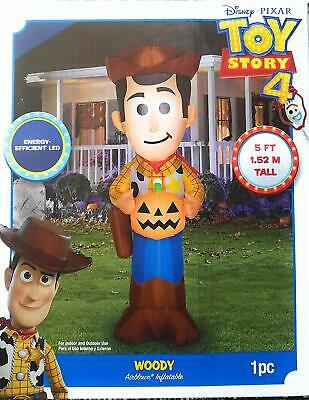 Gemmy Disney • Pixar Toy Story 4 Woody Halloween 5 ft Airblown Inflatable - NEW