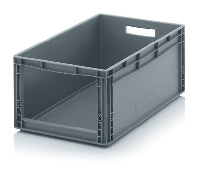Storage Containers 60x40x27 with Window Stacking Box Eurobox Stackable