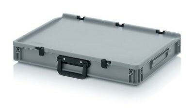 Plastic Box 60x40x9 with Handle and Lid Storage Box Stacking Crates Box