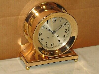 Chelsea Antique Ships Bell Clock~Commodore Model~ 6  In Dial~1947~Red Brass