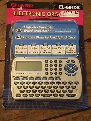 Sharp EL-6910B Electronic Organiser With English / Spanish Translator Games