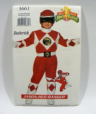 1994 Power Rangers JASON - Red Ranger, UNCUT PATTERN All Sizes, Butterick 3661