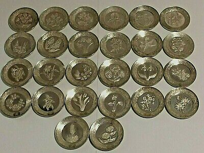 26 X Ltd. Ed.sterling Silver. Alphabet Miniature Plates Rare 293.80 Grams.rare