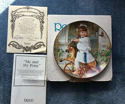 1993 Sandra Kuck ME AND MY PONY Collector Plate HEARTS & FLOWERS Box Certificate