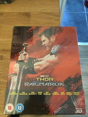 Marvel Studios Thor Ragnarok Limited Edition 3D Blu Ray Steelbook(New/Sealed)