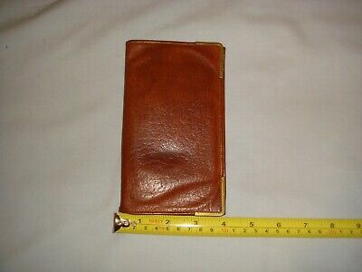 Vantage Oak Calf Made In England Leather Wallet - In Very Good Condition